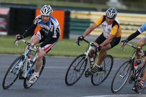 Charity bicycle ride at Croft Circuit