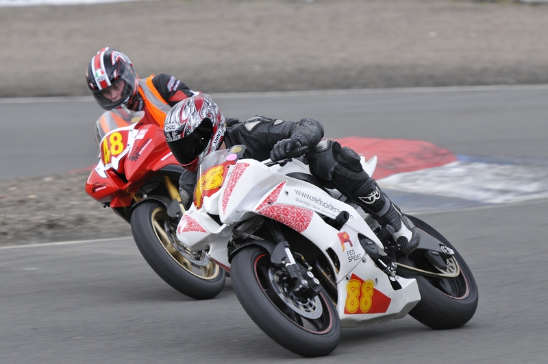 motorcycle racing at knockhill with NEMCRC