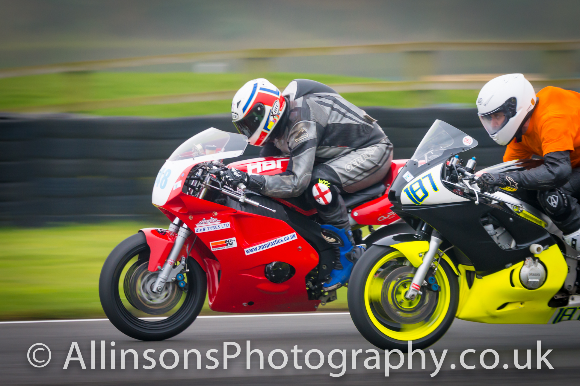 motorcycle racing photograph at Croft for NEMCRC